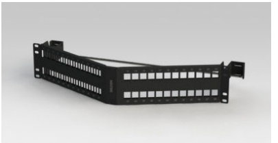 Belden Panel de Parcheo Angulado de 48 Puertos, 2U, Negro