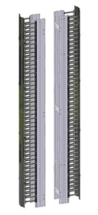 Belden Organizador Vertical Doble con Puertas, 15cm x 2.13m, Gris