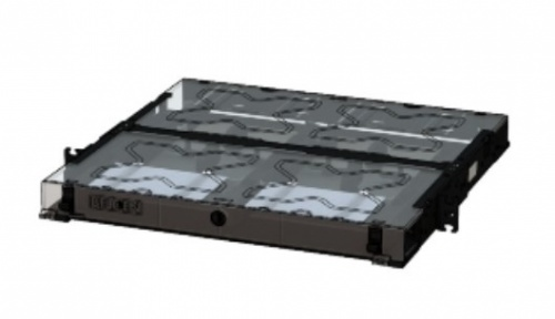 Belden Panel de Parcheo Vacio ECX-01U, 1U, Negro