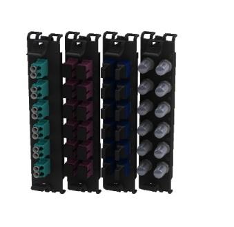 Belden Panel de Parcheo de 12 Puertos LC, Negro/Azul