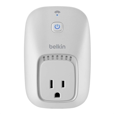 Belkin Enchufe WeMo Smart Plug, WiFi, para IOS/Android, Blanco