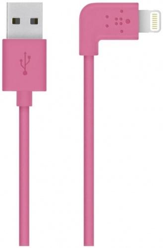 Belkin Cable Plano Lightning Macho - USB A Macho, 1.2 Metros, Rosa