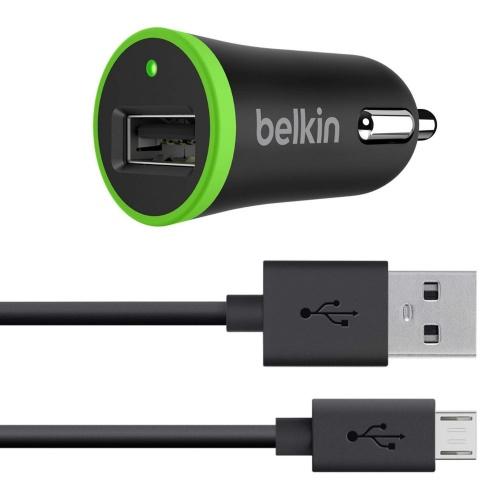 Belkin Universal Cargador para Auto + Cable Micro USB, 10W, 2.1A, Negro