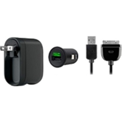 Belkin Kit de Cargador para Pared/Auto, 80cm, para iPad/iPod/iPhone