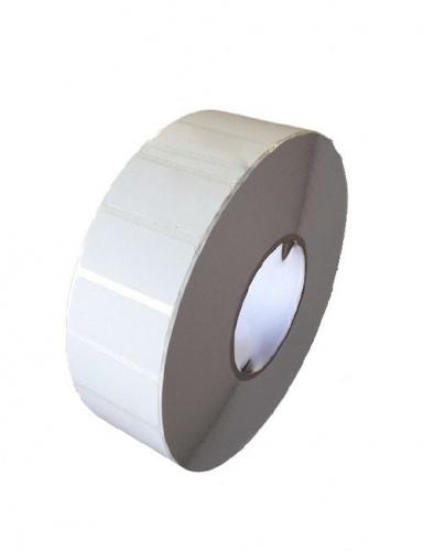 Bestval Rollo de Etiquetas 1000102, 76 x 25mm, 1 x 5330 Etiquetas, Blanco