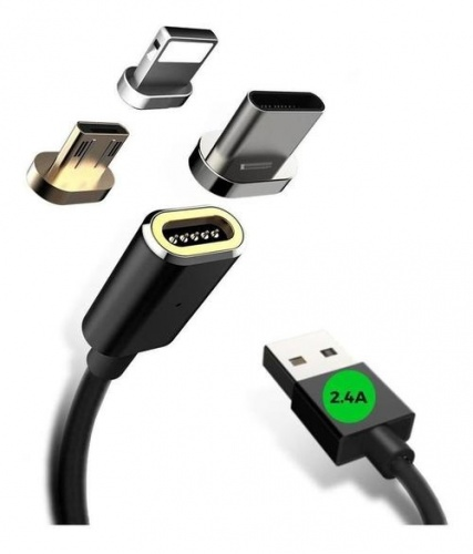 Binden Cable USB-A Macho - USB-C/Micro-USB B/Lightning Macho, 1.5 Metros, Negro