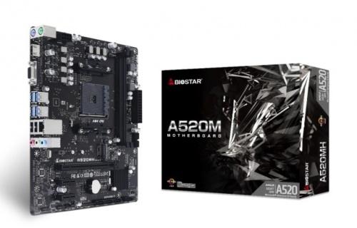 Tarjeta Madre Biostar micro ATX A520MH, S-AM4, AMD A520, HDMI, 64GB DDR4 para AMD ― No es Compatible con AMD Ryzen 3 (Matisse/ Renoir), AMD Ryzen 4 (Vermeer), Revisar Compatibilidades en la Página del Fabricante
