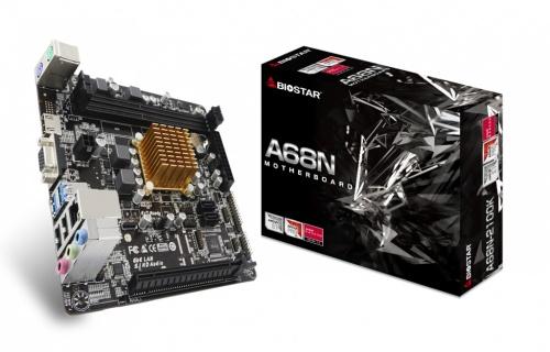 Tarjeta Madre Biostar mini ITX A68N-2100K, AMD E1-6010 Integrada, HDMI, 16GB DDR3 para AMD