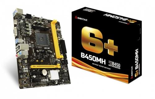 Tarjeta Madre Biostar micro ATX B450MH, S-AM4, AMD B450, HDMI, 32GB DDR4 para AMD