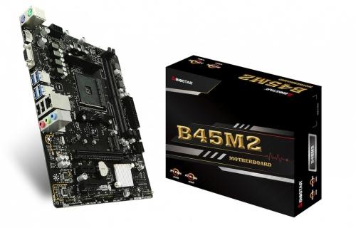 Tarjeta Madre Biostar Micro ATX B45M2, S-AM4, AMD B350, HDMI, 32GB DDR4 para AMD