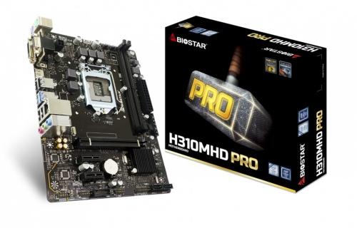 Tarjeta Madre Biostar Micro ATX H310MHD PRO, S-1151, Intel H310, HDMI, 32GB DDR4 para Intel ― Compatibles solo con 8va & 9va Generación