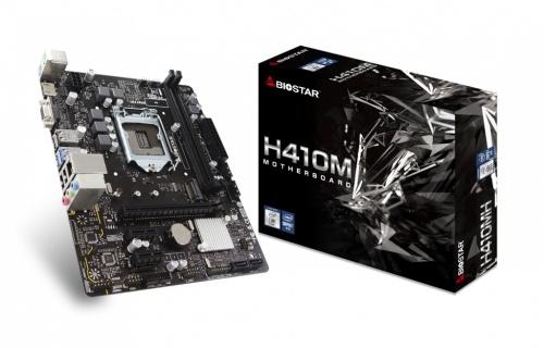 Tarjeta Madre Biostar Micro ATX H410MH, S-1200, Intel H410, HDMI, 64GB DDR4 para Intel