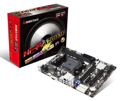 Tarjeta Madre Biostar micro ATX HI-FI A70U3P, S-FM2+, AMD A70M, HDMI, 32GB DDR3, para AMD