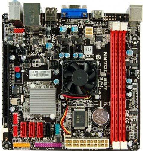 Tarjeta Madre Biostar mini ITX NM70I-847 Ver. 6.x, Celeron Dual-Core 847 Integrada, Intel NM70 Express, HDMI, 16GB DDR3