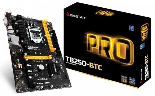 Tarjeta Madre Biostar ATX TB250-BTC, S-1151, Intel B250, 32GB DDR4, para Intel