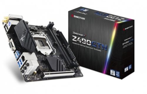 Tarjeta Madre Biostar mini ITX Z490GTN, S-1200, Intel Z490, HDMI, 64GB DDR4 para Intel