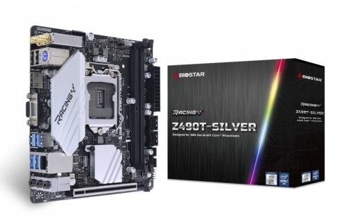 Tarjeta Madre Biostar Mini ITX Z490T-SILVER, S-1200, Intel Z490, HDMI, 64GB DDR4 para Intel