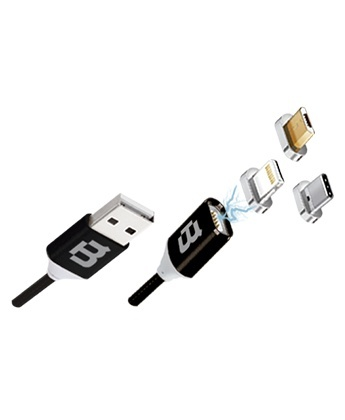 Blackpcs Cable CABLMUTM-2 USB A Macho - Lightning/Micro-USB/USB-C Macho, 1 Metro, Negro