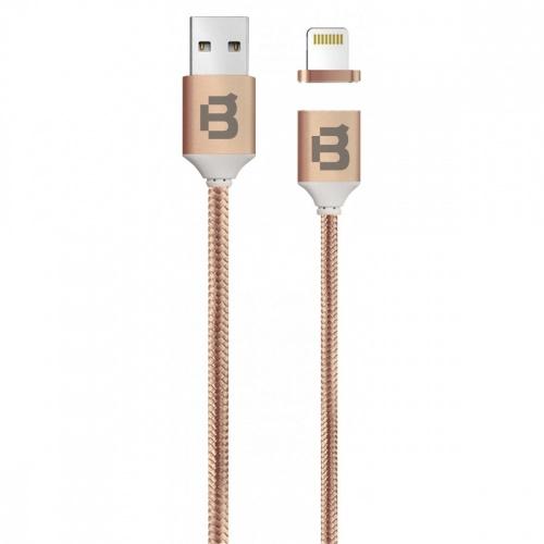 Blackpcs Cable de Carga Lightning Macho Magnético - USB A Macho, 1 Metro, Cobre, para iPod/iPhone/iPad/Android