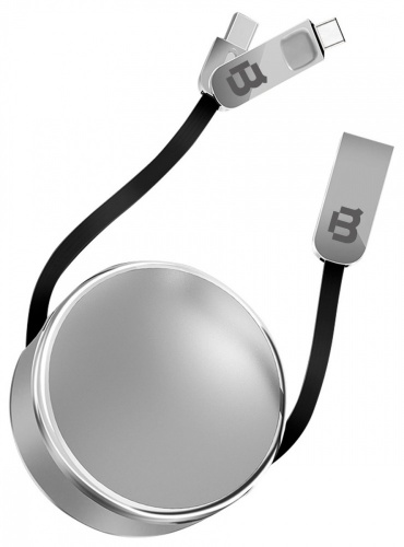 Blackpcs Cable CASMCPR-3 USB A Macho - Lightning/USB-C, 1 Metro, Plata