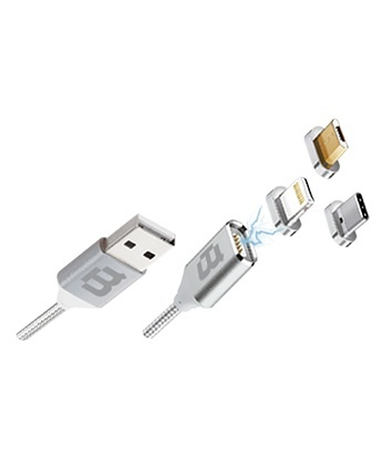 Blackpcs Cable CASMUTM-2 USB-A Macho - Lightning/Micro USB/USB-C Macho, 1 Metro, Plata