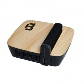 Blackpcs Base de Carga + Power Bank EPBBL6-4000/5V, 4x USB 2.0, Negro