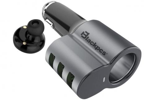 Blackpcs Cargador para Auto EPI053BT-BL, 5V, 3x USB 2.0, Negro