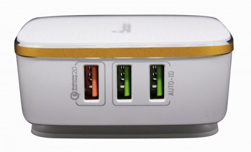 Blackpcs Cargador de Pared ESH014-W, 5V, 6 Puertos USB 2.0, Blanco