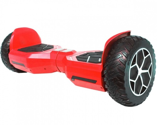 Blackpcs Hoverboard Eléctrico M408, 10 km/h, hasta 120kg, Negro/Rojo