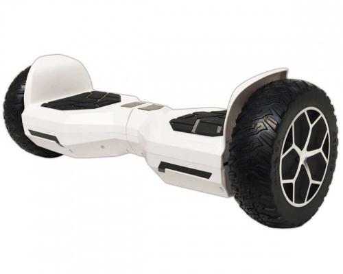 Blackpcs Hoverboard Eléctrico M408, 10 km/h, hasta 120kg, Blanco