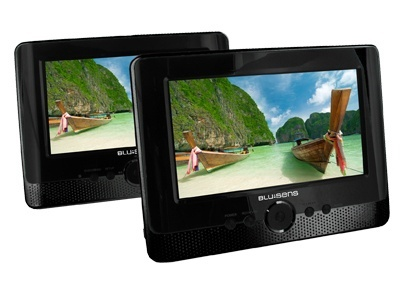 Blusens DVD Player con Pantalla P63, 7'', USB 2.0,  Negro