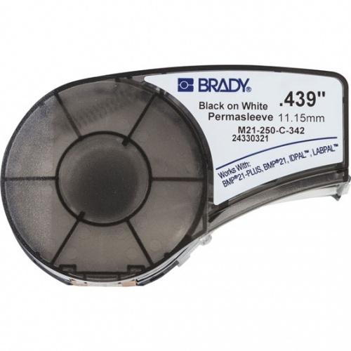 """Brady Rollo de Etiquetas M21-250-C-342, 2.5"""" x 6.9', Negro/Blanco"""