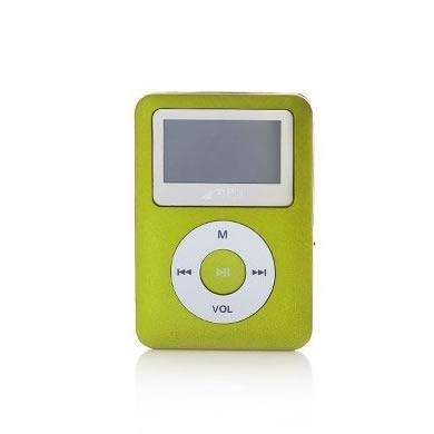 BRobotix Lector Micro SD y Reproductor MP3 con Pantalla y Bocina, USB 2.0, Oro