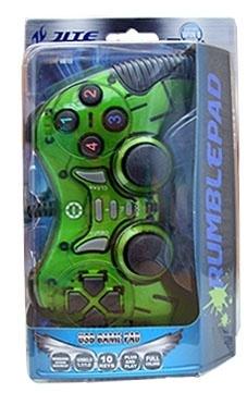 BRobotix Control para Juegos Rumblepad, Alámbrico, USB 2.0, Verde