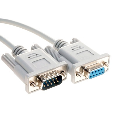 BRobotix Cable DB9 Macho - DB9 Hembra, 4.5 Metros, Blanco