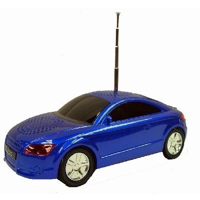 BRobotix Bocina Portátil Auto Audio A8, Alámbrico, 2.0, 6W RMS, Azul