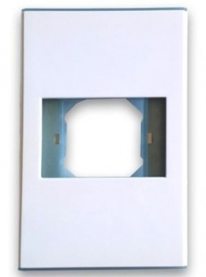 BRobotix Placa de Pared, 1 Puerto, Blanco