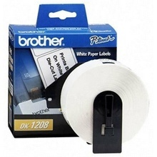 Brother Etiqueta de Dirección DK1208, 400 Etiquetas de 1.5'' x 3.5'', Blanco