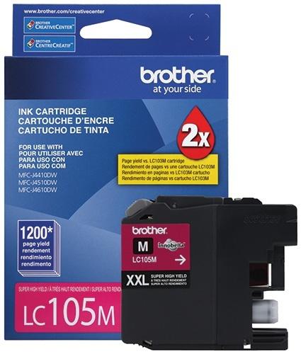 Cartucho Brother LC105M Magenta, 1200 Páginas