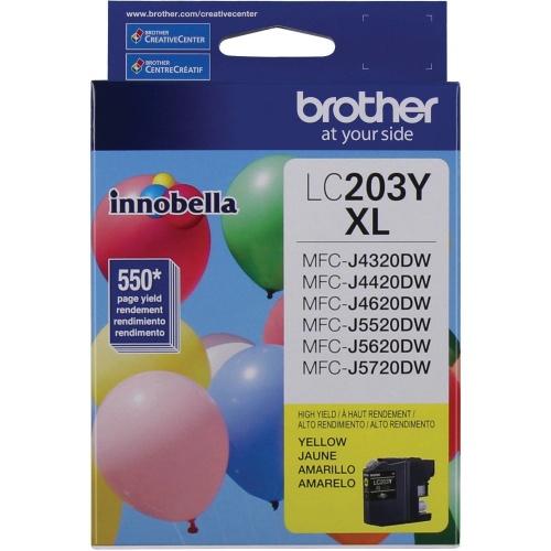 Cartucho Brother Innobella LC203Y Amarillo, 550 Páginas