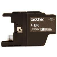 Cartucho Brother Innobella LC75BK XL Negro, 600 Páginas