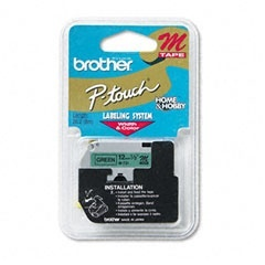 Cinta Brother M731 Negro sobre Verde, 12mm x 8m