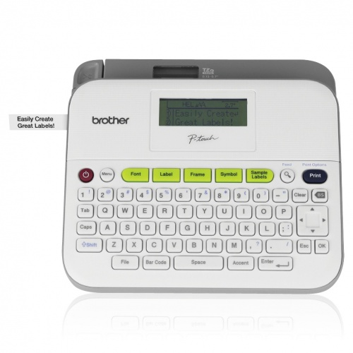 Brother PTD400AD, Impresora de Etiquetas, Transferencia Térmica, 180 x 180DPI, Gris/Blanco