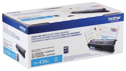 Tóner Brother TN-436C Super Alto Rendimiento Cyan, 6500 Páginas