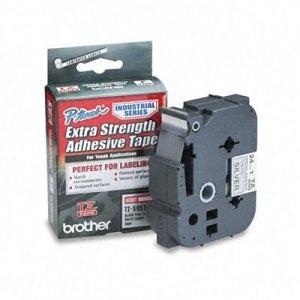 Cinta Brother TZES951 Negro sobre Plata Mate, 24mm x 8m, Extra Adhesiva