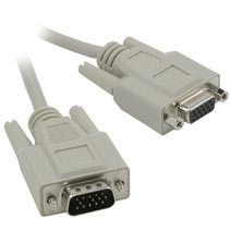 C2G Cable VGA Macho - VGA Hembra, 3 Metros, Gris