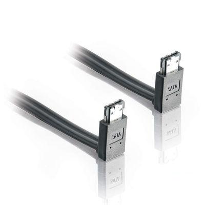 C2G Cable eSATA 90° 7-pin Macho - eSATA 90° 7-pin Macho, 1 Metro, Negro