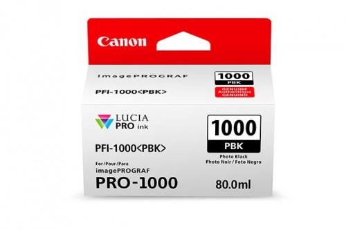 Cartucho Canon PFI-1000 Negro Fotográfico, 80ml