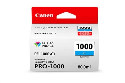 Cartucho Canon PFI-1000 Cyan, 80ml