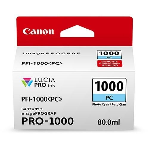 Cartucho Canon PFI-1000 Cyan Fotográfico, 80ml